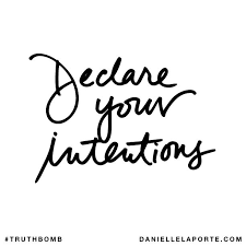 declare intentions